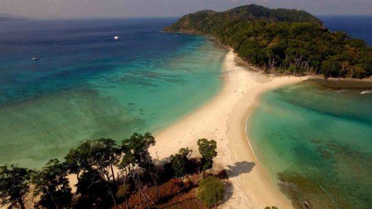 L'expédition sur l'île d'Andaman en Thailande