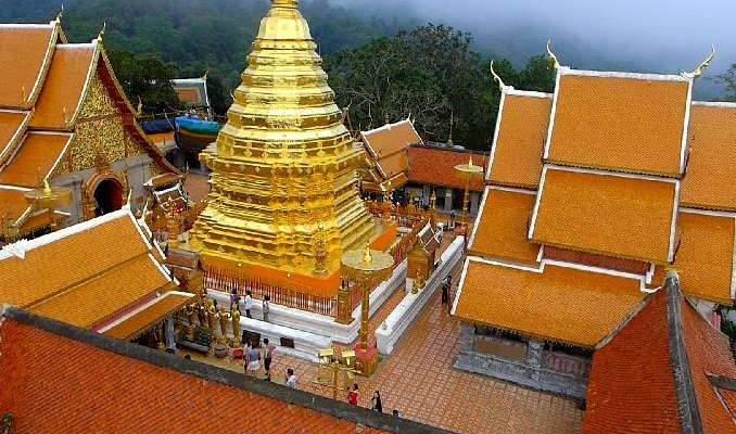 Visite de temples bouddhistes en Thaïlande