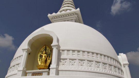La pagode mondiale de la paix à Pokhara, Népal.