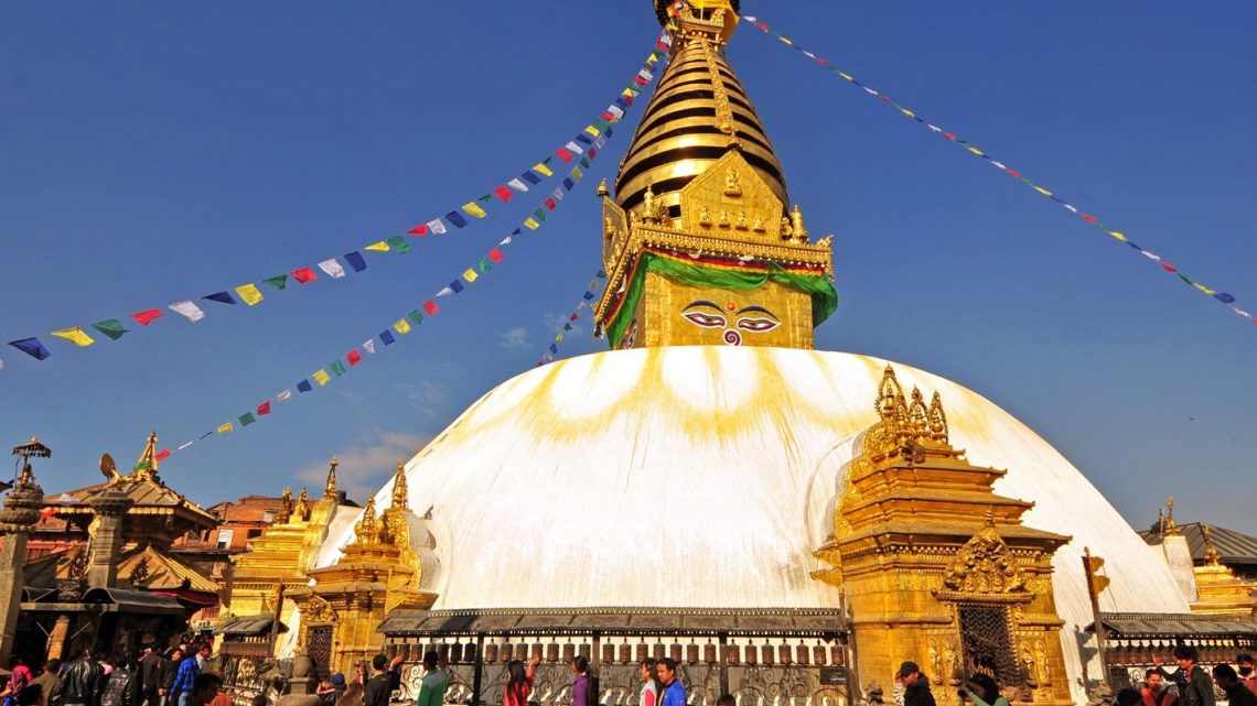 Monkey See, Monkey Do : Temple Swayambhunath au Népal